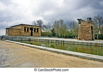 Templo de Debod, Madrid - a view of Templo de Debod, in...