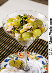 Ceviche fish tartare with Grape
