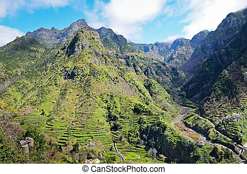 High mountains in Serra de Agua, Madeira