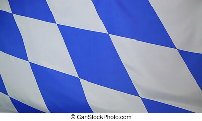Moving flag of Bavaria, Germany - Moving fabric flag of...