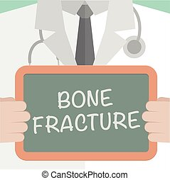 Board Bone Fracture - minimalistic illustration of a doctor...