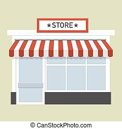 small store front - minimalistic illustration of a store...