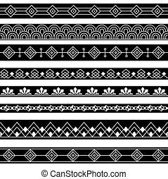 Art Deco Borders Style Line and Geometric Linear Design...
