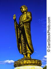 Buddha, aberta, a, mundo,