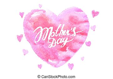 mothers day hand lettering handmade calligraphy Vector...