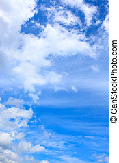 Blue sky and clouds - Blue sky with clouds - copyspace...