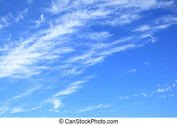 Blue sky with clouds - copyspace composition