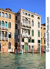 Houses in Venice - Houses on Grand Canal in Venice, Italy