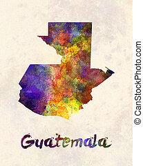 Guatemala in watercolor