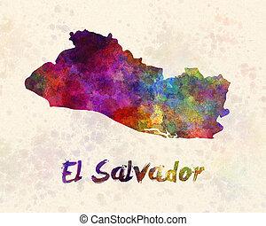 El Salvador in watercolor