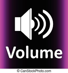 Loudspeaker and volume violet - Icon with the classical...