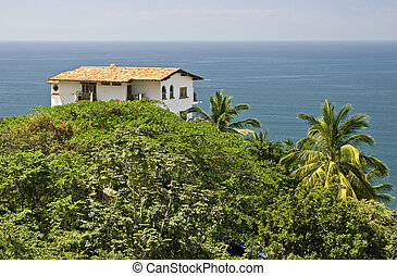 House in the tropics with ocean view