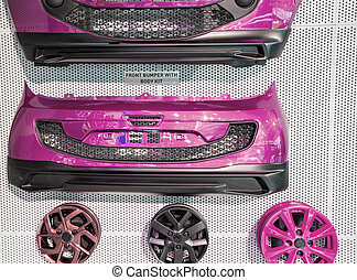 Pink car body kit - Pink car body diy kit on sale and...