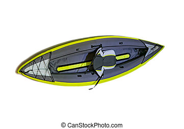 Isolated kayak boat - Inflatable isolated kayak boat with...