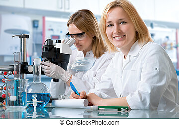 laboratory - scientists working at the laboratory