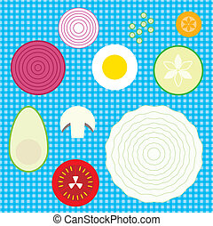 set of raw vegetables vector illustration