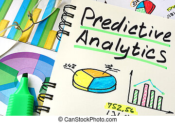 Predictive Analytics written on a notepad sheet.
