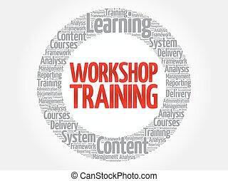 Workshop Training circle word cloud, business concept