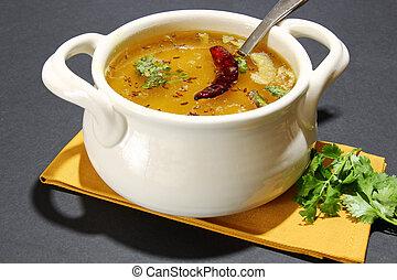 Arhar daal or lentil soup