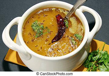 Arhar daal or lentil soup - Arhar Daal soup with tempering...