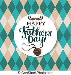Happy Father`s day - Greeting card for Father`s day with...
