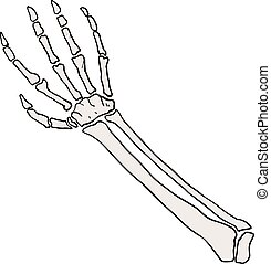 hand bones illustration - Creative design of hand bones...