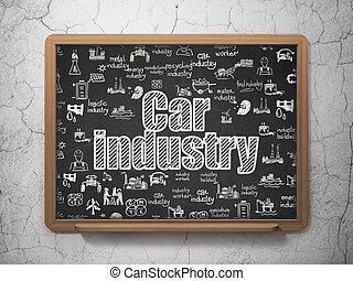 Industry concept: Car Industry on School board background