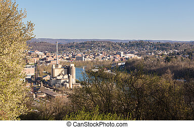 City of Morgantown in West Virginia - Skyline and cityscape...