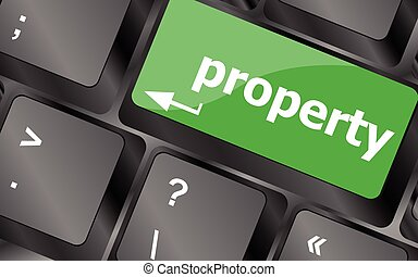 property message on keyboard enter key. Keyboard keys icon button vector
