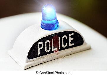 polícia, sirena,