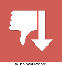 red dislike arow symbol - Creative design of red dislike...