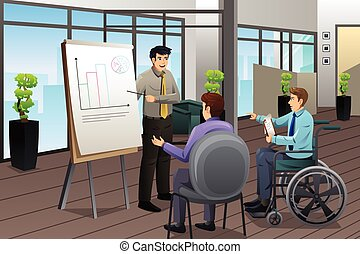 Businessman Meeting in Office