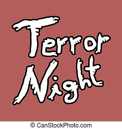 terror night icon - Creative design of terror night icon