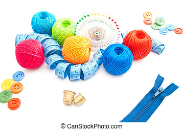 zipper and other items for needlework