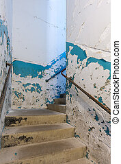 Staircase inside Trans-Allegheny Lunatic Asylum - Stairs in...