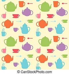 Vector teapots and cups