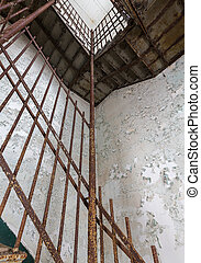 Staircase inside Trans-Allegheny Lunatic Asylum - Stairs and...
