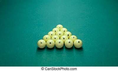 breaking of the pyramid in billiards Russian - breaking of...