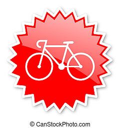 bicycle red tag, sticker, label, star, stamp, banner,...
