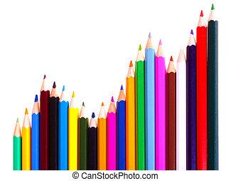 Color pencils chart