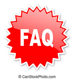 faq red tag, sticker, label, star, stamp, banner,...