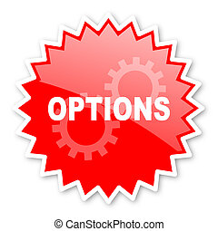 options red tag, sticker, label, star, stamp, banner,...