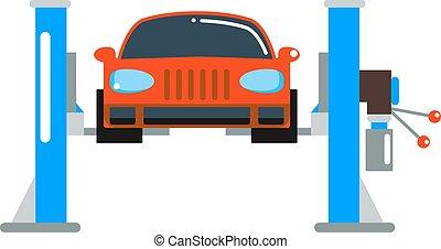 Car repair service diagnostics cartoon flat vector...