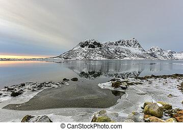 Vagspollen, Lofoten Islands, Norway - Vagspollen reflection...