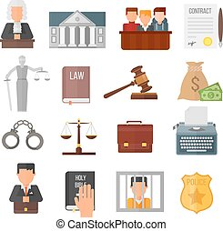 Law justice legal court lawyer judgment judge gavel symbol vector.