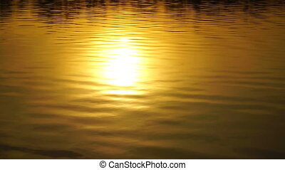 footage beautiful sunset reflected in water HD video