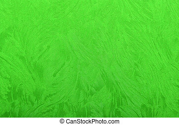 Metallic paper background - Glittery and textured green...