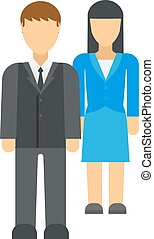 Workplace business discrimination issues vector illustration...