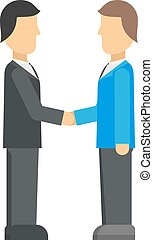 Double exposure of businessman meeting handshake industrial business team partnership character vector illustration