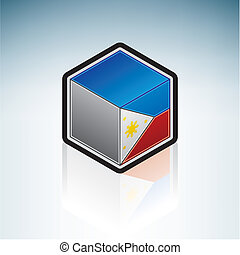 Phillipines { Asia } - Flag of Republic of the Philippines...